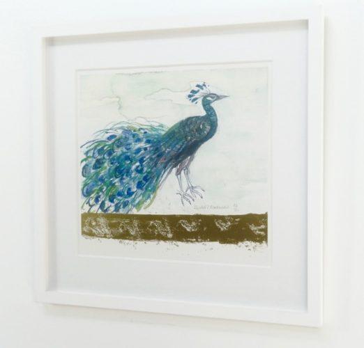 Peacock by Elizabeth Blackadder at