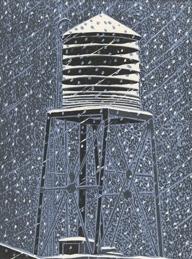 Snowy Tower 2 by Emily Trueblood