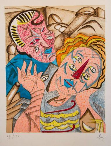 Il Bacio I by Enrico Baj