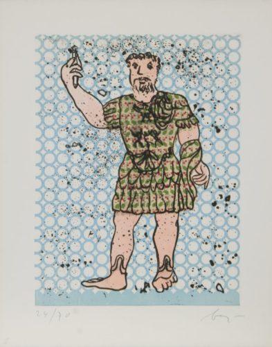 Sextus Varius Avitus Bassianus Heliogabalus by Enrico Baj at
