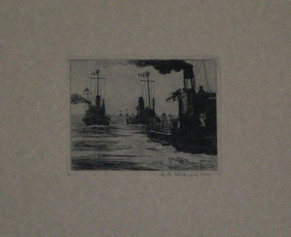 Dampfschiffe / Steamboats by Erich Hübner