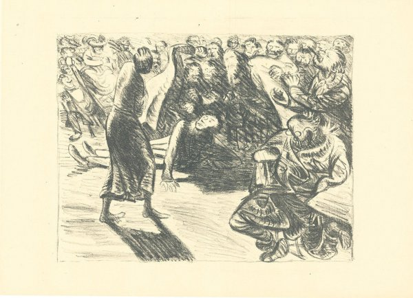 Das Paar In Der Menge 2 (heiliger, Strohbraut…) by Ernst Barlach