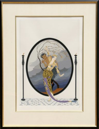 Woman And Satyr by Erte