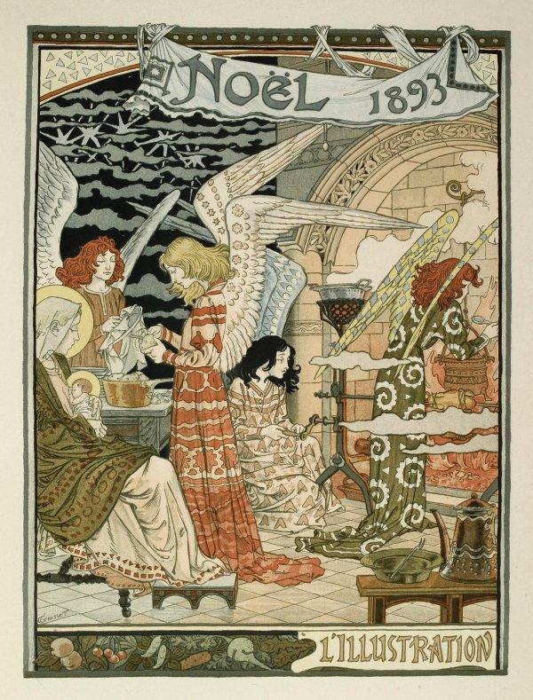 Cuisine Des Anges / Angels' Kitchen by Eugène Grasset