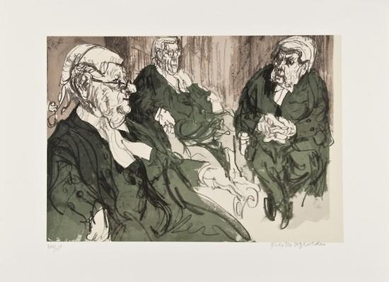 Three Judges by Feliks Topolski