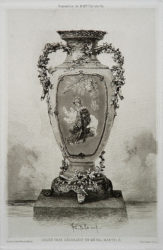 Grande Vase Décoratif by Felix Buhot at
