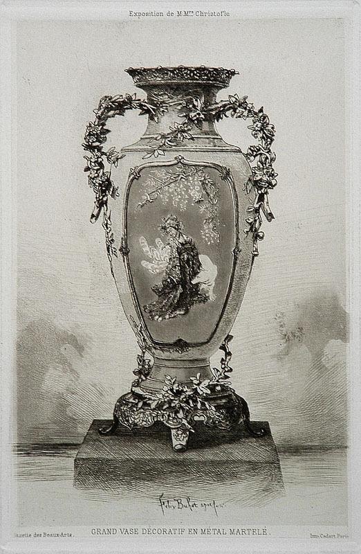 Grande Vase Décoratif by Felix Buhot