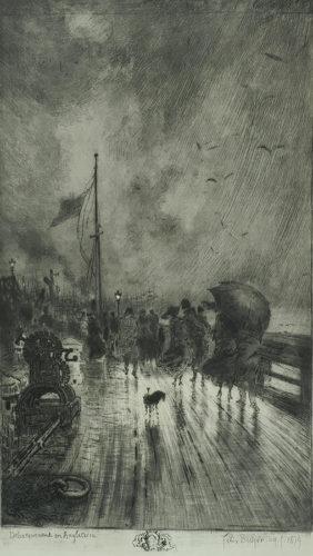 Un Débarquement En Angleterre by Felix Buhot