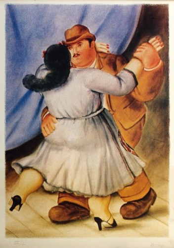 Les Danseurs by Fernando Botero at