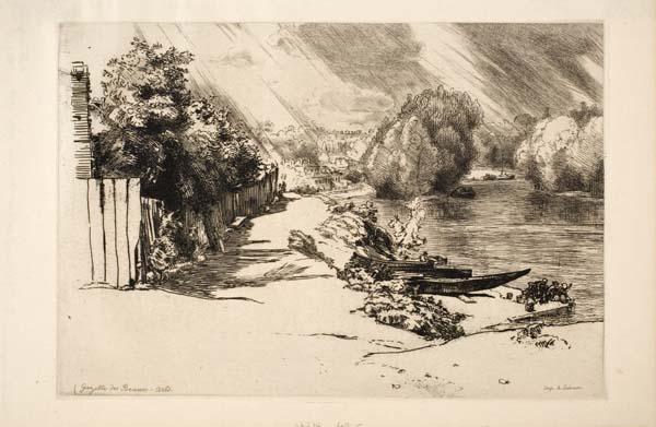 La Seine Au Bas Meudon by Félix Bracquemond
