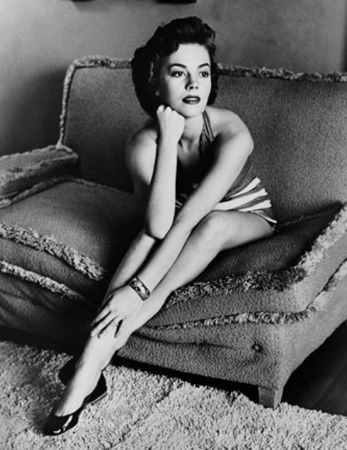 Natalie Wood Classic Portrait On Sofa by Frank Worth