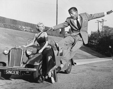 Sammy Davis Jr Leaps For Marilyn by Frank Worth