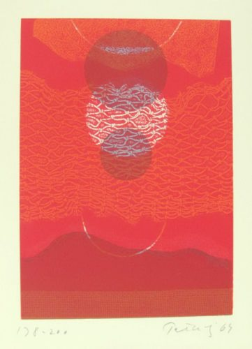 Red Eclipse Ii by Gabor Peterdi