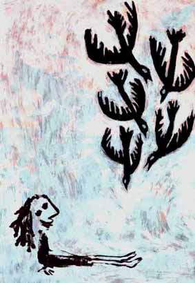 Girl With Birds by Gary Goodman