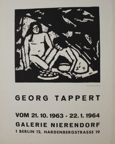Zwei Sitzende Mädchenakte by Georg Tappert