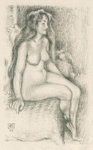 Nu Femme Assise by Georges Lemmen at