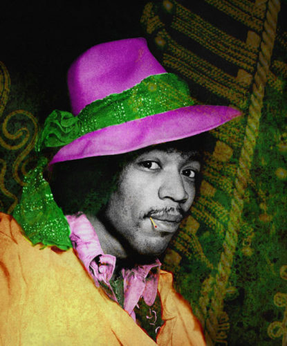 Jimi With Hat by Gered Mankowitz at