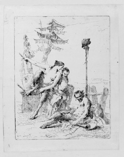 The Family Of The Cheerful Satyr by Giambattista Tiepolo at Stanza del Borgo (IFPDA)