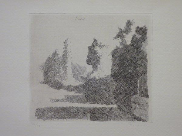 Paesaggio by Giorgio Morandi at Isselbacher Gallery (IFPDA)