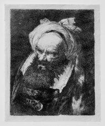 Old Man With Turban Turned Left by Giovanni Domenico Tiepolo at Stanza del Borgo (IFPDA)