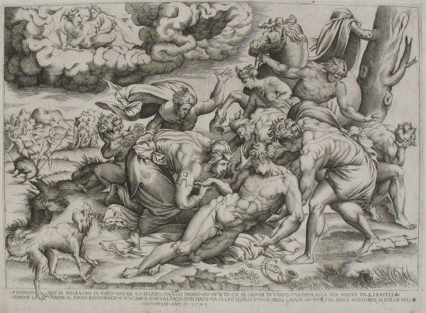 The Death Of Meleager by Girolamo Fagiuoli
