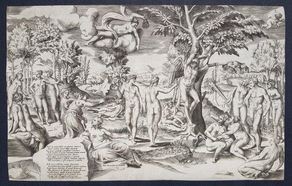 Cupid In The Elysian Fields by Giulio Bonasone at