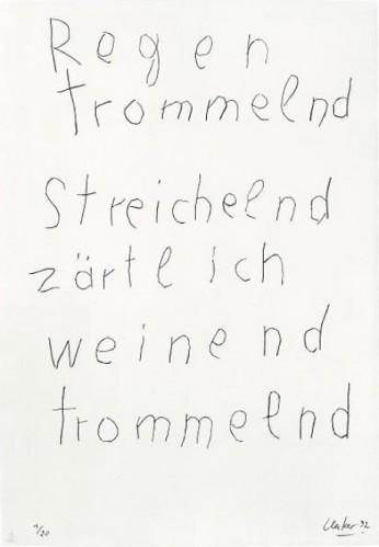"From The Mappenwerk ""regen"" by Gunther Uecker"