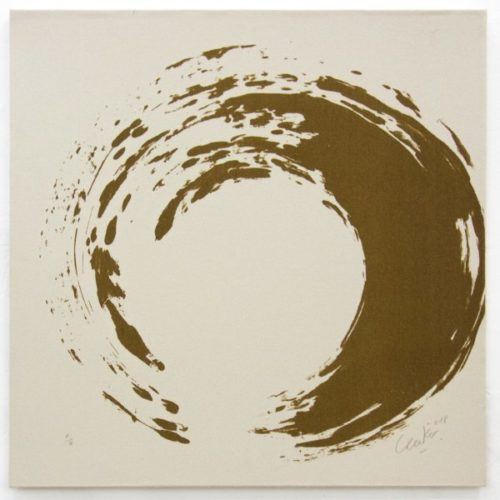 Ouroboros (natural Sand) #8 by Gunther Uecker