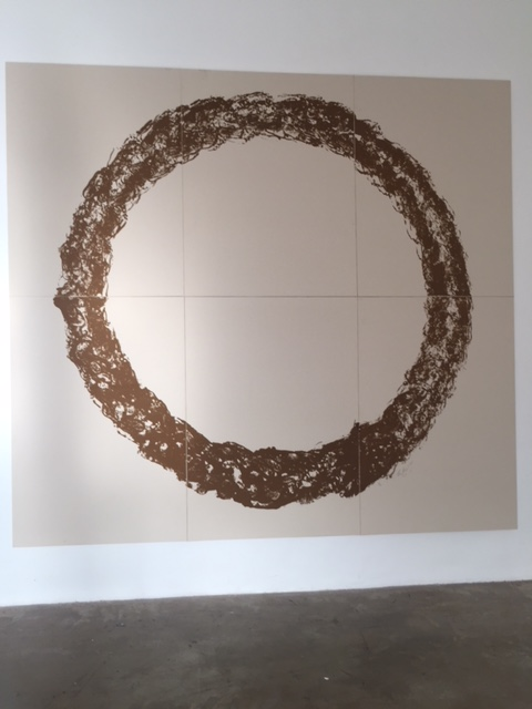 Ouroboros (natural Sand) by Gunther Uecker