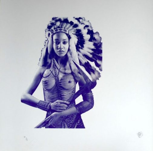 Apache Girl – Printer's Proof by Goldie at