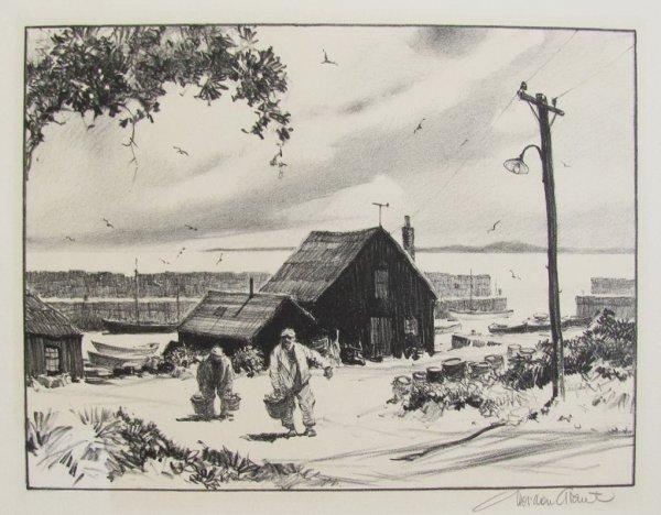 The Little Harbor by Gordon Grant