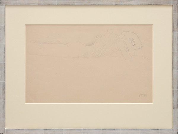 """Skizze Zu Den """"wasserschlangen"""". by Gustav Klimt"""