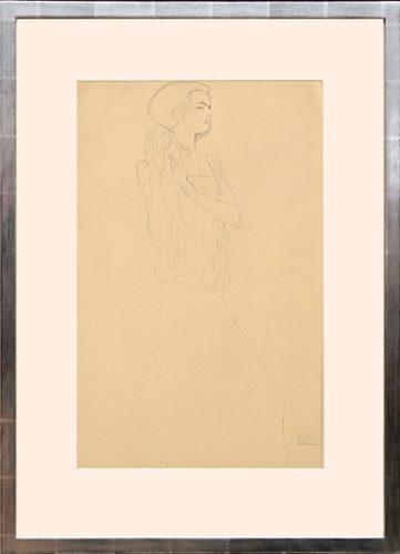 Skizze Zu Einem Fries. Sketch Of A Frieze by Gustav Klimt