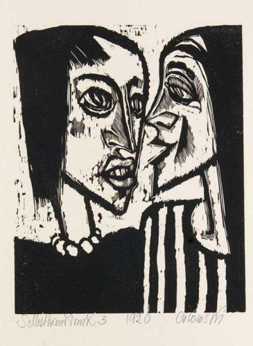 Das Gespräch (conversation) by Hans Orlowski at