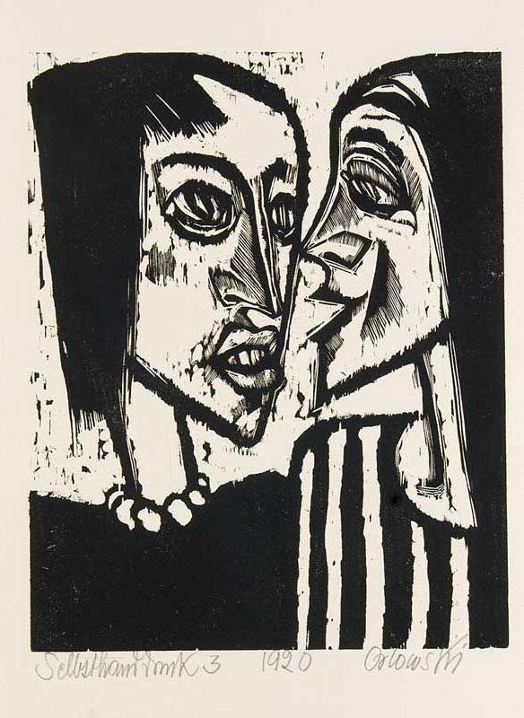 Das Gespräch (conversation) by Hans Orlowski