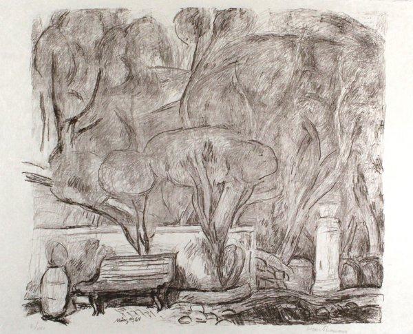 Garten In Levanto by Hans Purrmann