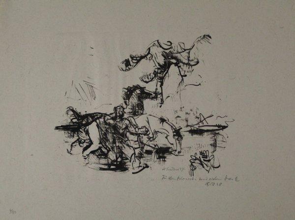 Pferdetränke by Heinrich Graf von Luckner