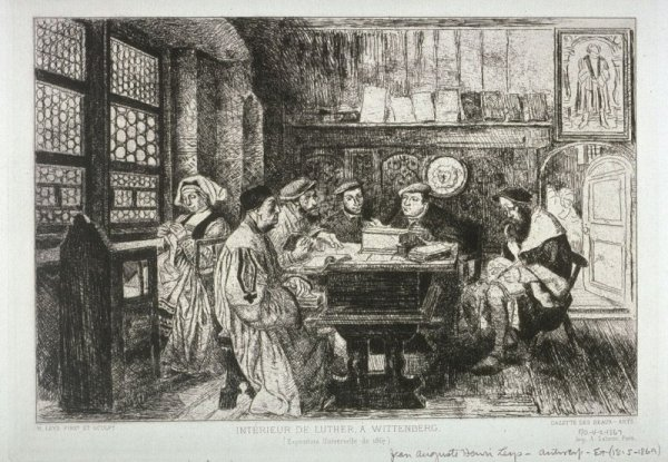 La Lecture Chez Luther by Hendrik Leys