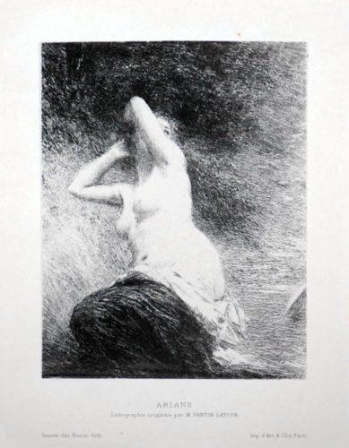 Ariane by Henri Fantin-Latour