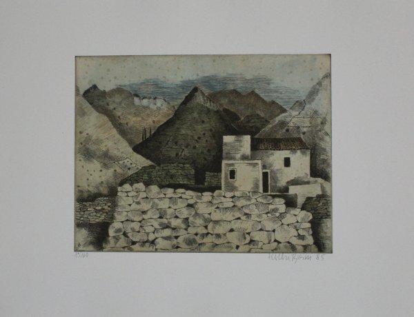 Haus In Den Bergen by Herbert Breiter
