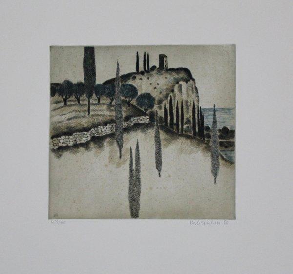 Landschaft Mit Zypressen / Landscape With Cypresses by Herbert Breiter