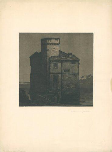La Torre Di Rapallo (torre Pagana) by Hermann Gattiker