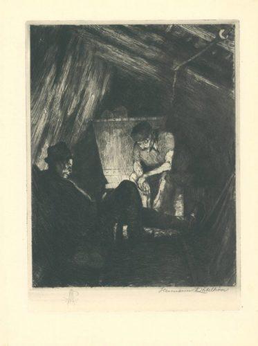 Beim Buttern by Hermann Kätelhön