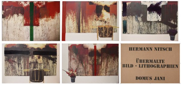 Ubermalte Bild – Lithographien, Domus Jani by Hermann Nitsch