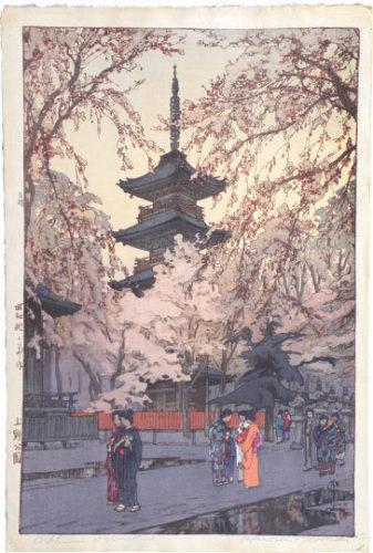 A Glimpse Of Ueno Park by Hiroshi Yoshida