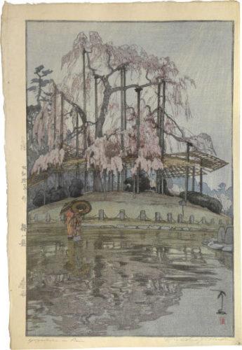 Eight Scenes Of Cherry Blossoms: Spring Rain At Yozakura by Hiroshi Yoshida