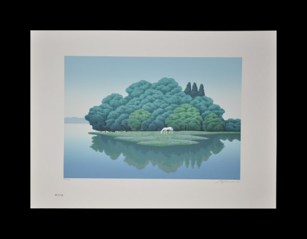 Forest On The Lake by Hisami Kunitake at Hanga Ten - Contemporary Japanese Prints