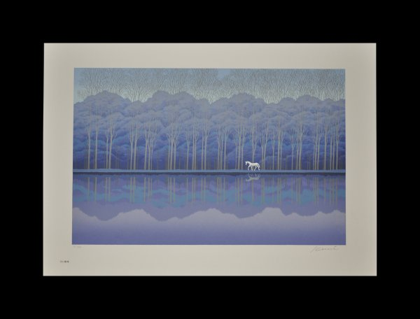 White Forest by Hisami Kunitake at Hanga Ten - Contemporary Japanese Prints