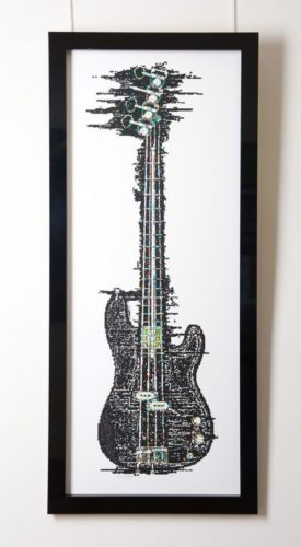 Black '72 Fender Precision Bass X-ray by Horace Panter