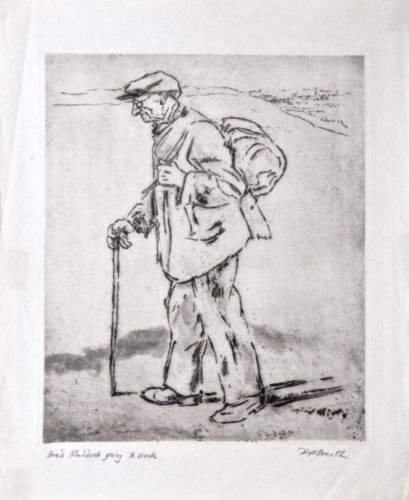 Fred Ruddock Going To Work by Hubert Andrew Freeth at
